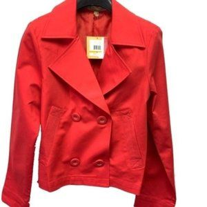 Ellen Tracy Cherry Red Jacket Double Breasted New